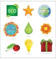 glass magic eco nature symbols set vector image vector image