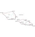 Samoa Black White Map vector image vector image