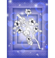 Abstract floral branch with background vector image