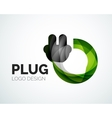 Abstract logo - plug icon vector image