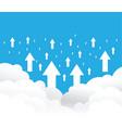 cloud uploading background vector image