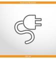 electrical plug web icon vector image