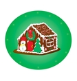 gingerbreag house vector image