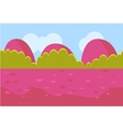 Landscape Cartoon Red and Green Seamless vector image