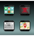 Mobile phones apps icons vector image