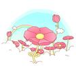Poppy Flowers Background vector image