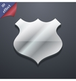 Shield icon symbol 3D style Trendy modern design vector image