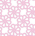 White 3D with colors pink flowers vector image