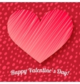 Valentines day card on hand drawn dots background vector image vector image