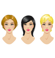 Hairstyles set vector image vector image