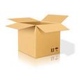 Open realistic cardboard box vector image vector image