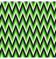 Seamless pattern with green zigzag elements vector image vector image