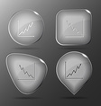 Diagram Glass buttons vector image