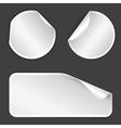 white label badges vector image