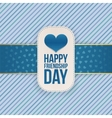 Friendship Day greeting Tag with festive Ribbon vector image