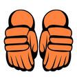 a pair of hockey gloves icon icon cartoon vector image