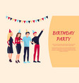 birthday party celebration vector image