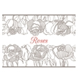 decorative floral border with roses vector image