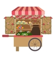 flowers cart icon vector image