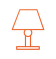 lamp bulb light furniture electric decoration vector image
