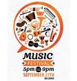Music festival music flyer vector image