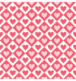 Seamless pattern of hearts and geometrical shapes vector image