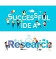 Successful Idea Research Banner Flat Design vector image