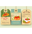 Italian Food - Set of Tags vector image