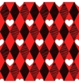 Love seamless background with rhombus and hearts vector image vector image