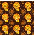 Baby seamless pattern of cute little lion vector image