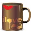 i love tea cup vector image