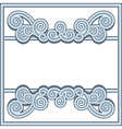 Wavy swirl frame vector image vector image
