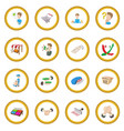 marketing icon circle vector image