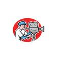 Cameraman Vintage Movie Camera Retro vector image vector image