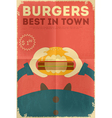 Big Burger vector image vector image