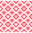 Seamless pattern of hearts and geometrical shapes vector image vector image