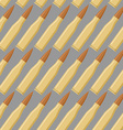 Ammo seamless pattern War accessory texture Bullet vector image
