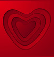 big red hearts abstract valentines day background vector image