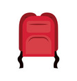 colorful silhouette of backpack icon vector image