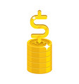 dollar growing stack vector image