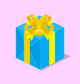 gift box with ribbon isometric vector image