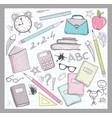 School supplies elements vector image
