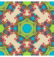 Seamless Christmas ornate pattern vector image