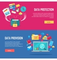 Set of Data Protection and Provision Web Banner vector image