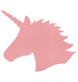 simple unicorn in nordic cross stitch vector image