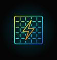 solar panel colorful icon vector image
