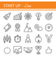 start-up project- outline web icon set vector image