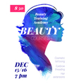 Beauty courses and training poster vector image