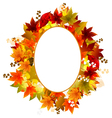 Autumn Leaves Frames vector image vector image