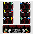 Scoreboard Football Tournament vector image